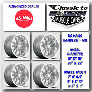Us Mags Rambler U111 15 X7 To 22 X11 Textured Gray Set Of 4 Wheels