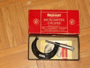 Starrett Outside Micrometer Caliper No 436p 1 2 In Original Box