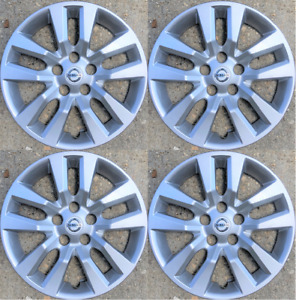 4 New 16 Silver Hubcap Wheelcover That Fits 2007 2018 Nissan Altima Hub Cap