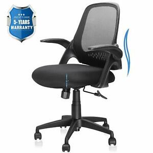 Office Chair Computer Desk Chair With Ergonomic Back Support And Thick Cushio