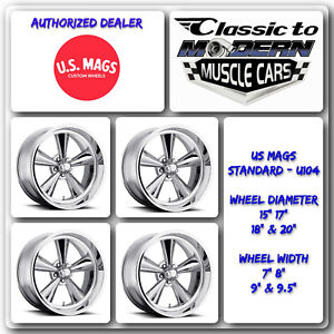 Us Mags Standard U104 15 x7 To 20 x9 5 Chrome set Of 4 Wheels