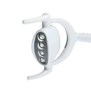 Fda Dental Shadowless Oral Light Lamp W 4 Led Lens For Dental Chair Unit 15w Us