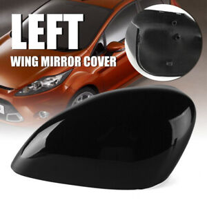 Left Side Gloss Black Wing Rearview Mirror Cover Fit For Ford Fiesta Mk7 Kit