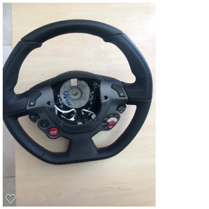 Genuine Ferrari 458 Steering Wheel Mint Condition Rosso Red Stitching