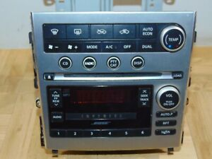 05 2006 Infiniti G35 Radio Mp3 Player Changer A C Temp Climate Control Panel 1