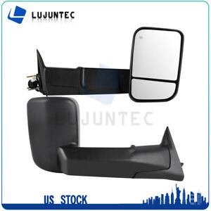 For 1998 2001 Dodge Ram 1500 2500 3500 Power Heated Tow Side View Mirrors