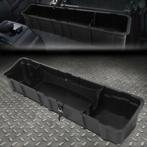 For 15 19 Ford F150 Crew Cab Under Seat Storage Organizer Tray Tool Box Case