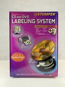 New Cd Stomper Professional Edition Cd Dvd Labeling Kit 600 Labels W Software