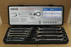 Matco Tools 10 pc Ratcheting Combo Wrench Set W Case S9grrcxlm10