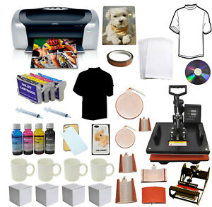 8in1 Heat Press Transfer epson Printer C88 sublimation Ink Refils t shirts mugs