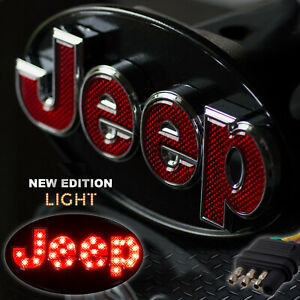 Jeep Hitch Cover Licensed Led Light Trailer Towing Receiver Chrome 6513