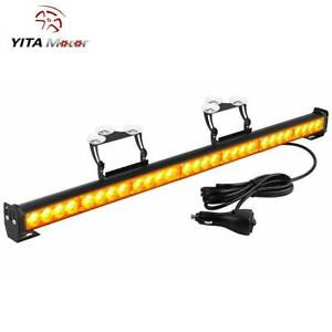 31 28 Led Waterproof Led Emergency Strobe Light Bar Traffic Advisor Amber