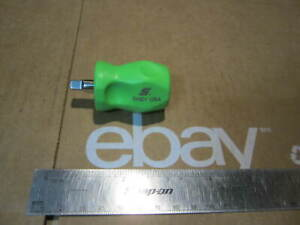 Snap on Tools 1 4 Drive Green Stubby Screwdriver Handle
