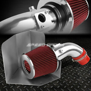 For 07 09 Toyota Camry I4 2 4 Aluminum 4 cold Air Intake red Filter heat Shield