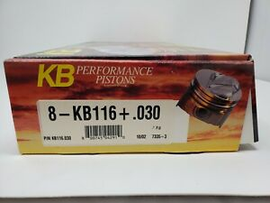 Keith Black Pistons Hypereutectic Dome 4 030 Bore Ford 302 Set Of 8 Kb116 030