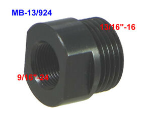 9 16 24 To 13 16 16 Male Thread Adapter Of Oil Filter Black Oxide Steel