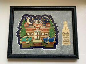 COCA COLA 9 PIECE PUZZLE PIN SET YESTERYEAR DINER COKE FRAMED LIMITED ED RARE
