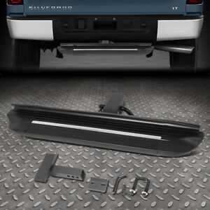 For 2 Receiver Rear Bumper Trailer 4 W X 26 75 L Square Towing Hitch Step Bar