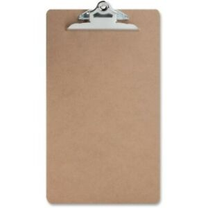 Sparco Hardboard Clipboard Nickel plated Clip 9 X 15 1 2 Inches Brown spr00