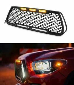 For 2016 2019 Tacoma Trd Pro Grill Grille With Led Turning Lights Day Lights New
