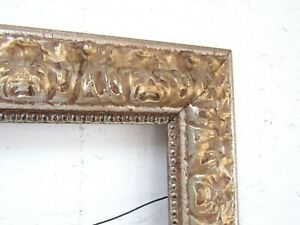 Vintage Carved Gilted Silver Frame For Painting 20 X 16 Inch