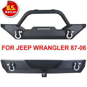 For 87 06 Jeep Tj Yj Wrangler Front Rear Bumper D Ring Winch Plate Po Track