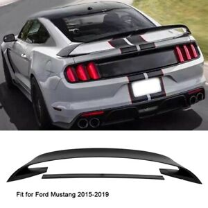 Car Rear Spoiler Wing Abs Plastic Black Accessories For 2015 2019 Ford Mustang