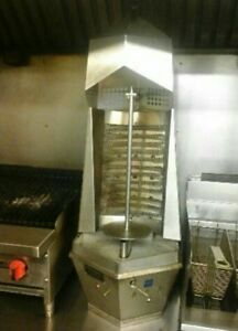 Gyro Shawarma Kebab Machine Vertical Broiler Electrical Connection