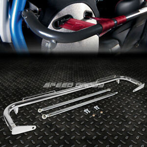 49 Stainless Steel Racing Safety Seat Belt Chassis Roll Harness Bar Rod Chrome