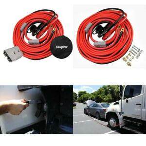 1 gauge 30 Ft Jumper Cables With Quick Connect