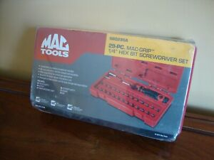 Mac Tools Sbd29sa 29 Pc Mac Grip 1 4 Hex Bit Screwdriver Set
