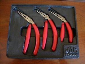Mac Tools 3 Pc Pistol Grip Needle Nose Pliers Set 6 8 9
