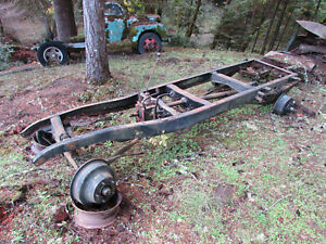 Original 1933 1934 Ford 1ton Truck Frame Partially Restored