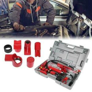 1 Set Hydraulic Power Jack Body Power Repair Tools Case 4 Ton Red For Car Van