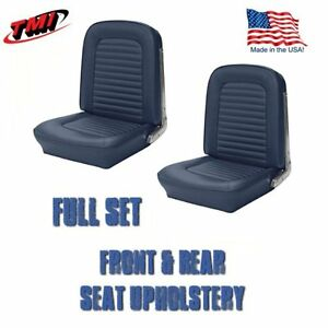 1964 1965 Mustang Convertible Seat Upholstery Blue Front Rear In Stock
