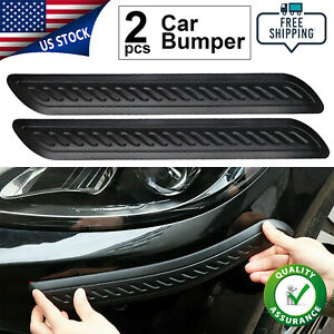 2x Car Bumper Corner Protector Door Guard Cover Anti Scratch Sticker Rubber Edge