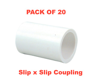 3 4 Pvc Schedule 40 Pressure Fitting Slip X Slip Coupling Made In The Usa