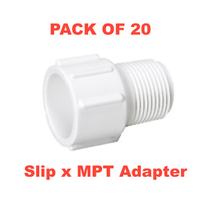 3 4 Pvc Schedule 40 Pressure Fitting Slip X Mpt Adapter Made In The Usa