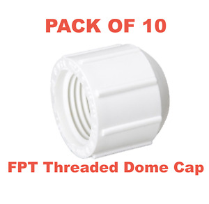 3 4 Pvc Schedule 40 Pressure Fitting Fpt Threaded Dome Cap Made In The Usa