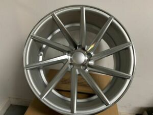 19 Silver Staggered Swirl Style Rims Wheels Fits Mercedes Benz Vw Volkswagen