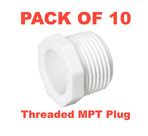 3 4 Pvc Schedule 40 Pressure Fitting Threaded Mpt Plug Made In Usa