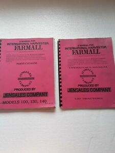Farmall Models 100 130 140 Operators Manual And Parts Catalog