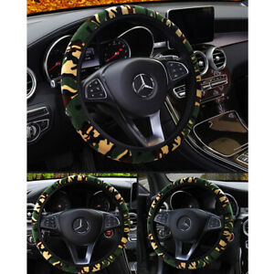Auto Car Truck Suv Steering Wheel Cover 38 Cm 15 In Camo Camouflage Anti Slip