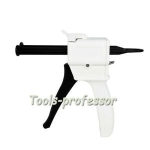 Dental Impression Mixing Dispenser Dispensing Caulking Gun 50ml 1 1 2 1 Ratio
