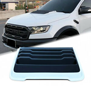 White Front Hood Scoop Bonnet Air Vent Cover Fit Ford Ranger Px2 Px3 Mk3 11 2020