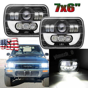 For Toyota Pickup Truck 7x6 6x7inch Rectangle Led Cree Hi Lo Drl Bulb Headlight
