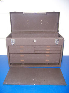 11096 Kennedy 520 Tool Box 7 Drawer Brown Machinists Chest