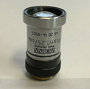 Zeiss Plan 1 25x Microscope Objective Macro Micro Photography Part 462014 9901