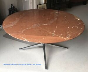 Florence Knoll Saarinen Round Marble Conference Table
