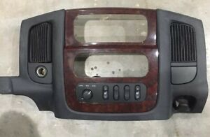 2002 2005 Dodge Ram 1500 Radio Climate Dash Trim Bezel With Woodgrain Trim Oem